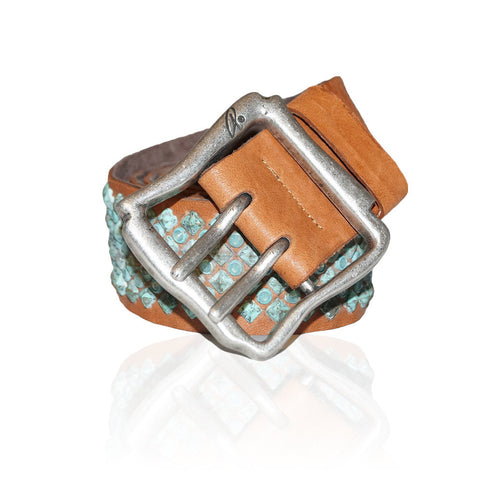Alessandria Turquoise Studded in Cognac