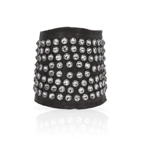 Adel Cuff Swarovski Crystals in Black/White
