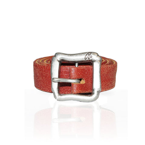 Alesse Distressed Belt in Red