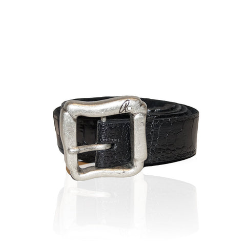 Alesse Ostrich Belt in Black