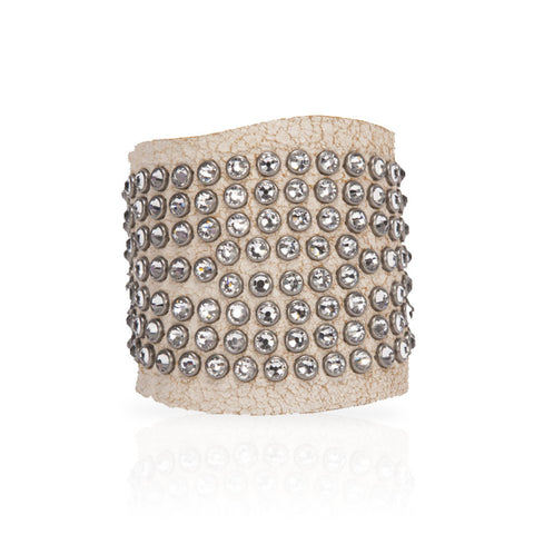 Adel Cuff Swarovski Crystals in White