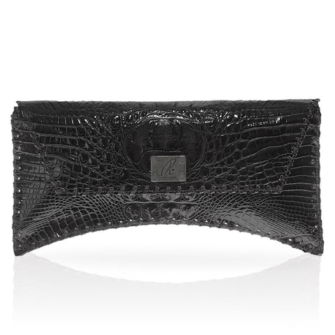 Bella Hornback Clutch in Black
