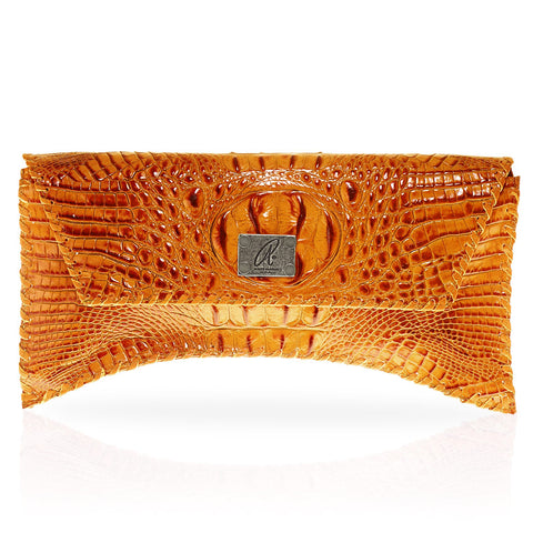 Bella Hornback Clutch in Orange