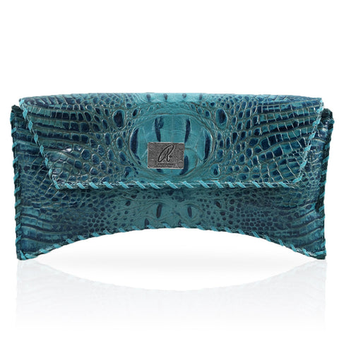Bella Hornback Clutch in Turquoise