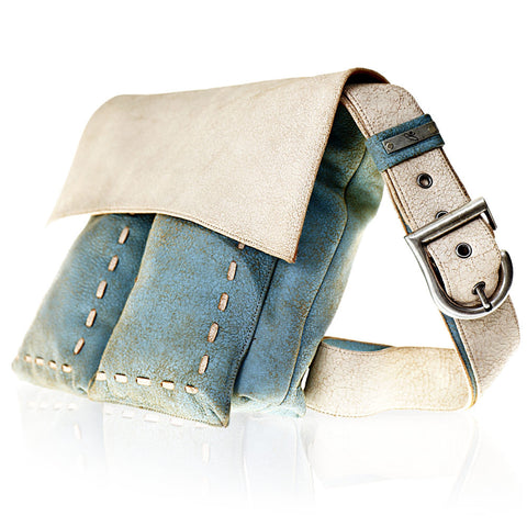 Belearica Cross Body Bag in Sky Blue/White