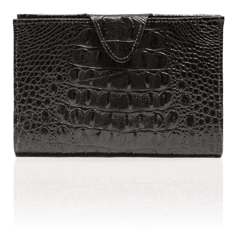 Rio Embossed Hornback Wallet in Black