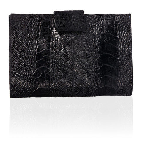 Rio Ostrich Wallet in Black