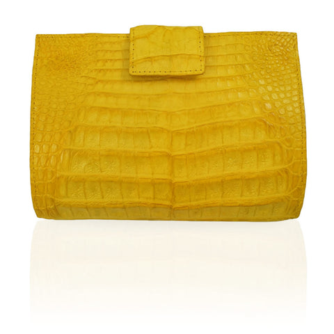 Rio Crocodile Wallet in Yellow