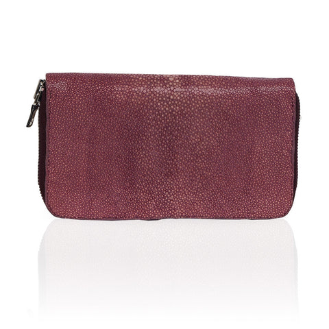 Belfort Stingray Wallet in Mauve