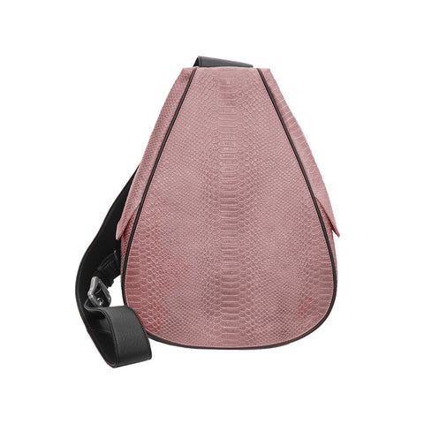 Florence Embossed Python Backpack in Pink/Black