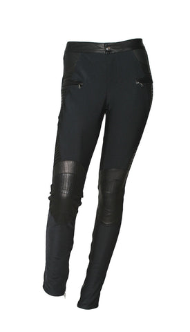 Lamezia Leather Legging in Black
