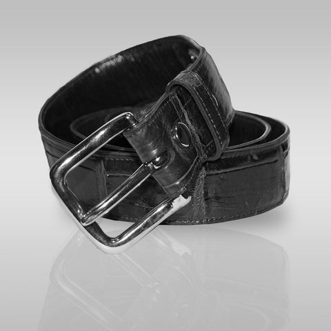 Rim Alligator Belt in Black