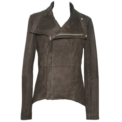 Tortuga High Collar Jacket in Brown