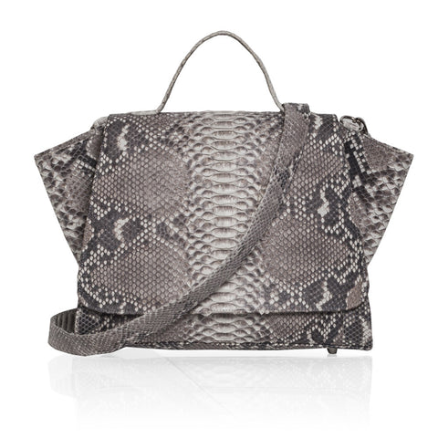 Gemma Python Satchel in Natural