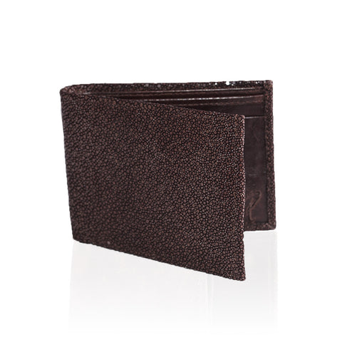 Gallarate Billfold Stingray Wallet in Chocolate