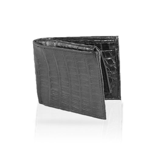 Gallarate Billfold Crocodile Wallet in Black