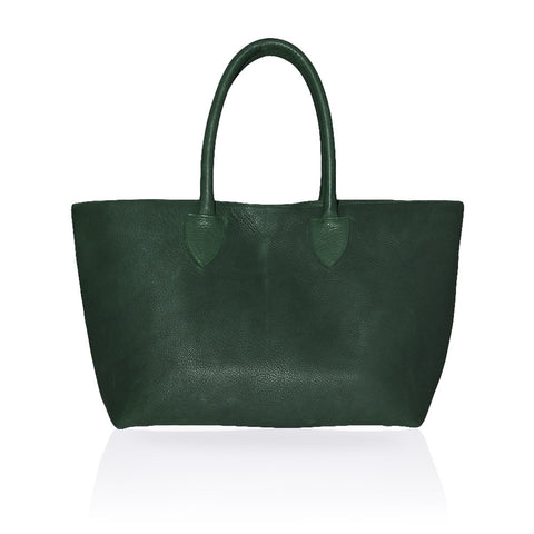 Monza Shopping Tote in Forest Green