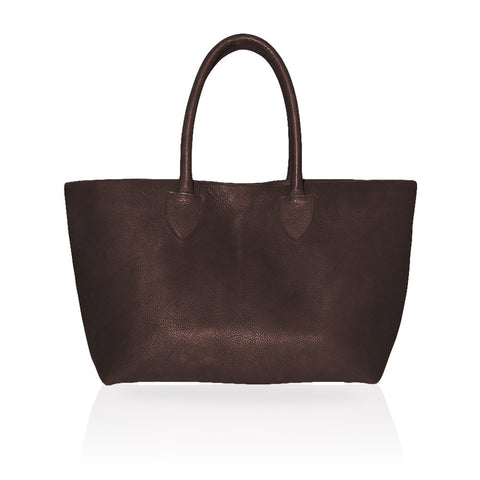 Monza Shopping Tote in Mahogany