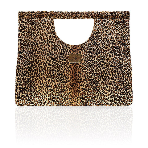 Arosa Calf Hair Clutch in Leopard