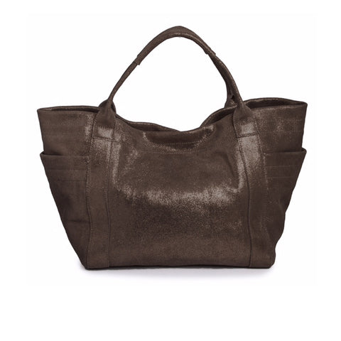 Aversa A Metallic Tote Bag in Bronze