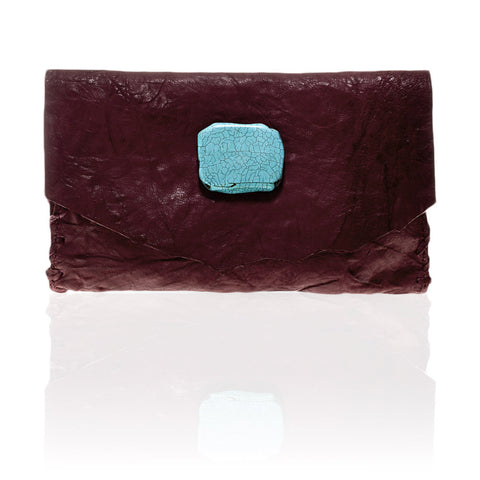 Marie Wallet/Clutch in Burgundy