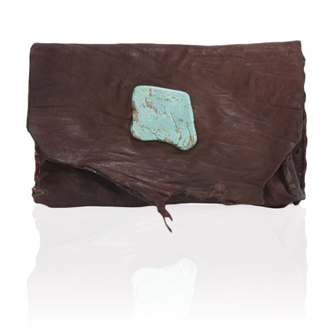Marie Wallet/Clutch in Chocolate