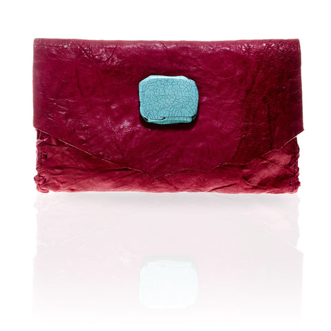 Marie Wallet/Clutch in Fuchsia