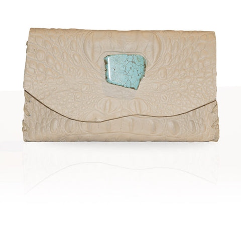 Marie Hornback Wallet/Clutch in Beige