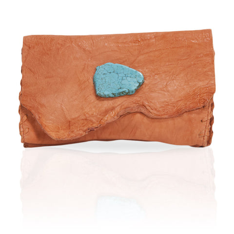 Marie Wallet/Clutch in Salmon