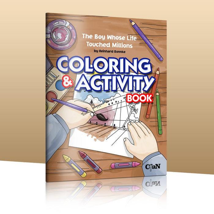 "Coloring and Activity Book ""The Boy whose life touched Millions"""