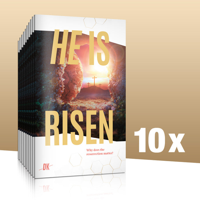 He is risen - Pack of 10