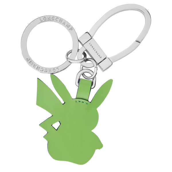 Longchamp x Pokemon Limited Edition Green Pikachu Key Ring (Front view) - 36037HVD249
