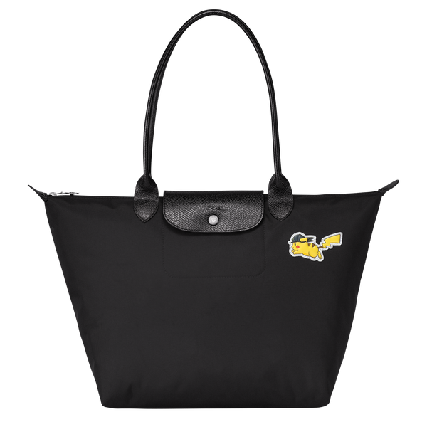 Longchamp x Pokemon Limited Edition Shoulder bag L in Black (Front view) - L1899HUZ001