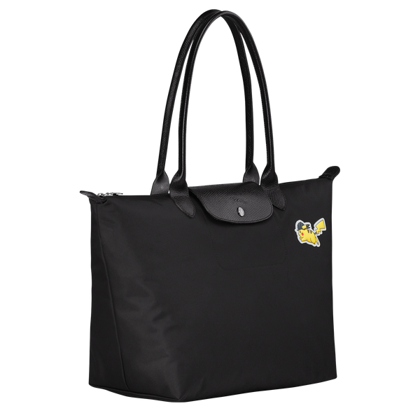 Longchamp x Pokemon Limited Edition Shoulder bag L in Black (Side view) - L1899HUZ001