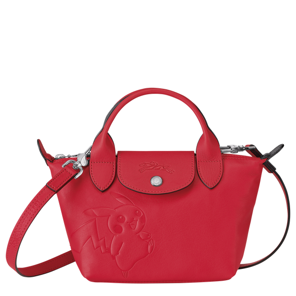 Longchamp x Pokemon Limited Edition Top-handle bag XS in Red (Front view) - L1500HUY548