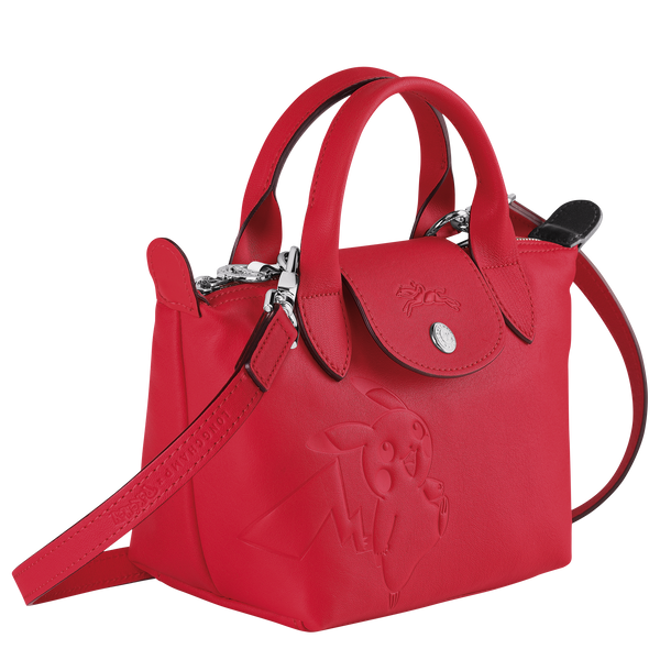 Longchamp x Pokemon Limited Edition Top-handle bag XS in Red (Side view) - L1500HUY548