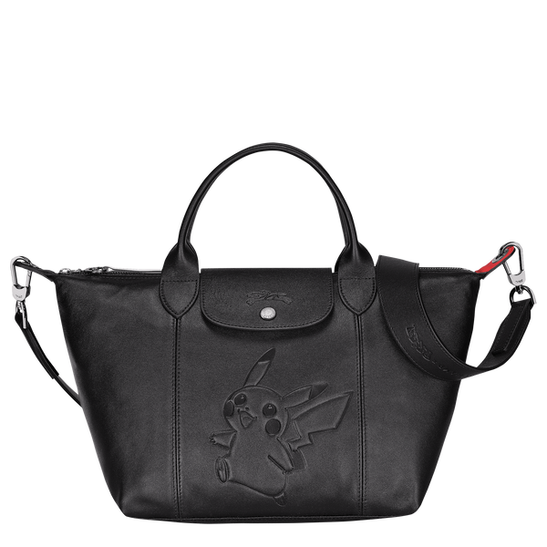 Longchamp x Pokemon Limited Edition Top-handle bag S in Black (Front view) - L1512HUY001