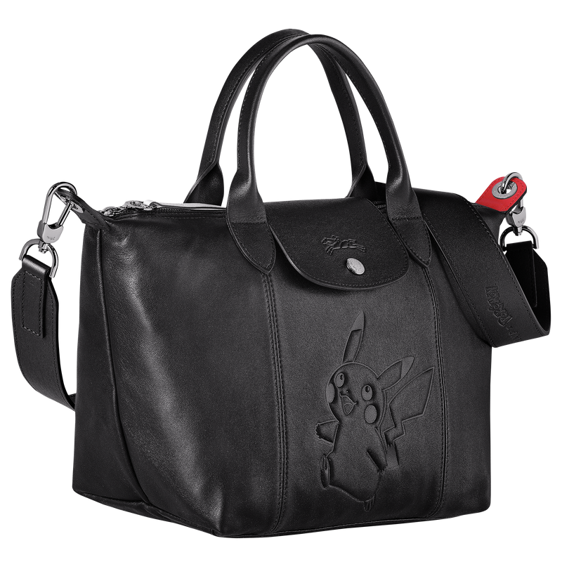 Longchamp x Pokemon Limited Edition Top-handle bag S in Black (Side view) - L1512HUY001