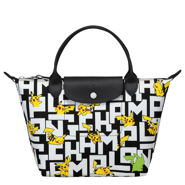 Longchamp x Pokemon Limited Edition Top-handle bag S in Black/White (Front view) - L1621HUT067