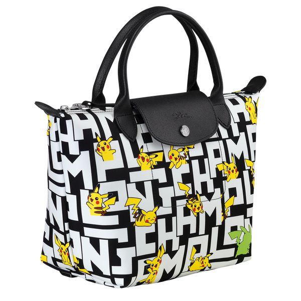 Longchamp x Pokemon Limited Edition Top-handle bag S in Black/White (Side view) - L1621HUT067