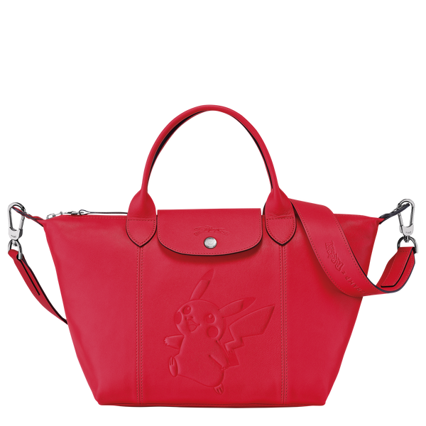 Longchamp x Pokemon Limited Edition Top-handle bag S in Red (Front view) - L1512HUY548