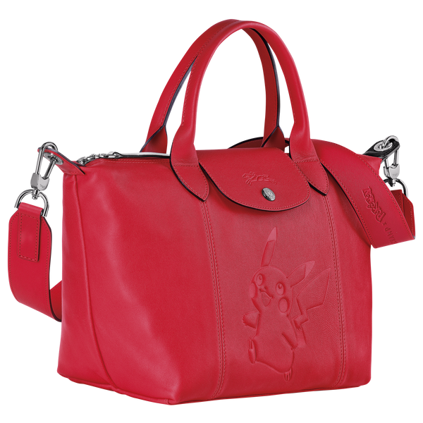 Longchamp x Pokemon Limited Edition Top-handle bag S in Red (Side view) - L1512HUY548
