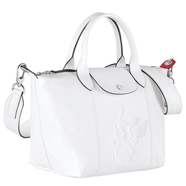 Longchamp x Pokemon Limited Edition Top-handle bag S in White (Side view) - L1512HUY007