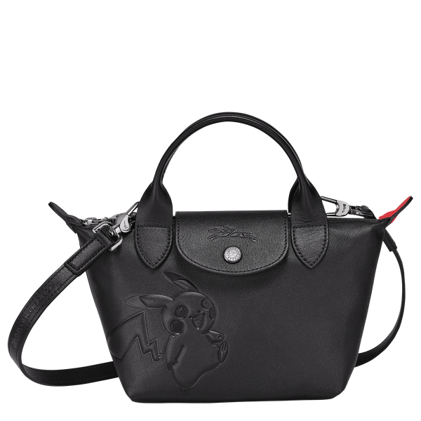 Longchamp x Pokemon Limited Edition Top-handle bag XS in Black (Front view) - L1500HUY001