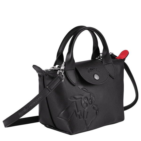 Longchamp x Pokemon Limited Edition Top-handle bag XS in Black (Side view) - L1500HUY001
