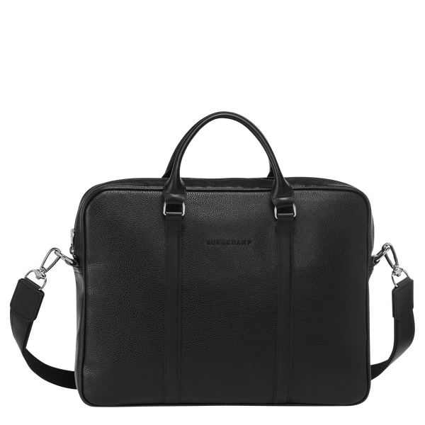 Le Foulonne Briefcase XS in Black - Front - L2121021047