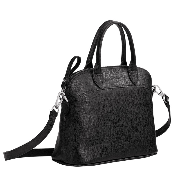 Le Foulonne Top Handle Bag S in Black - 2 - 10092021047