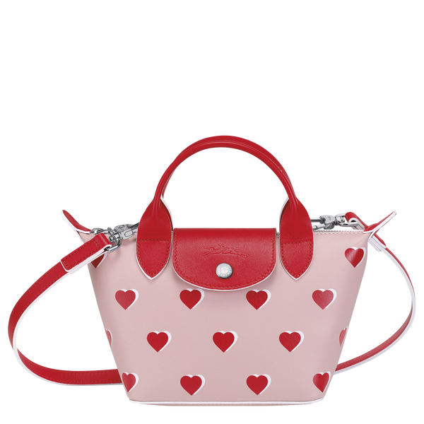 Valentine's Limited Edition - Le Pliage Cuir Top Handle Bag XS in Pinky - Front - L1500HUPA26