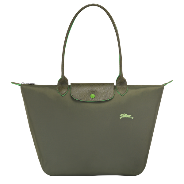 Le Pliage Club Top Handle Bag L in Forest - Front - L1899619549