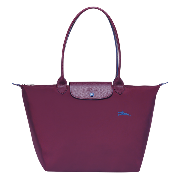 Le Pliage Club Top Handle Bag L in Plum - Front - L1899619P22